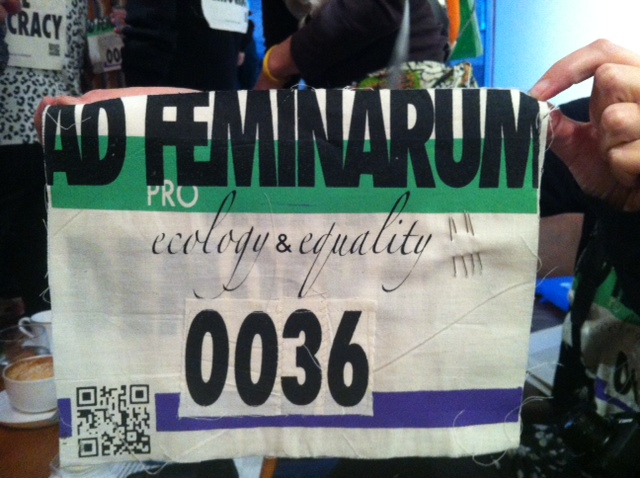 Ad Feminarum unique number dorsal to promote the Ecology and Equality race.
